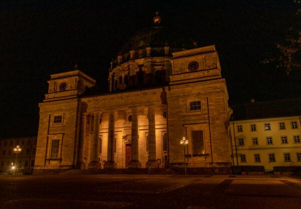 Dom in St. Blasien bei Nacht